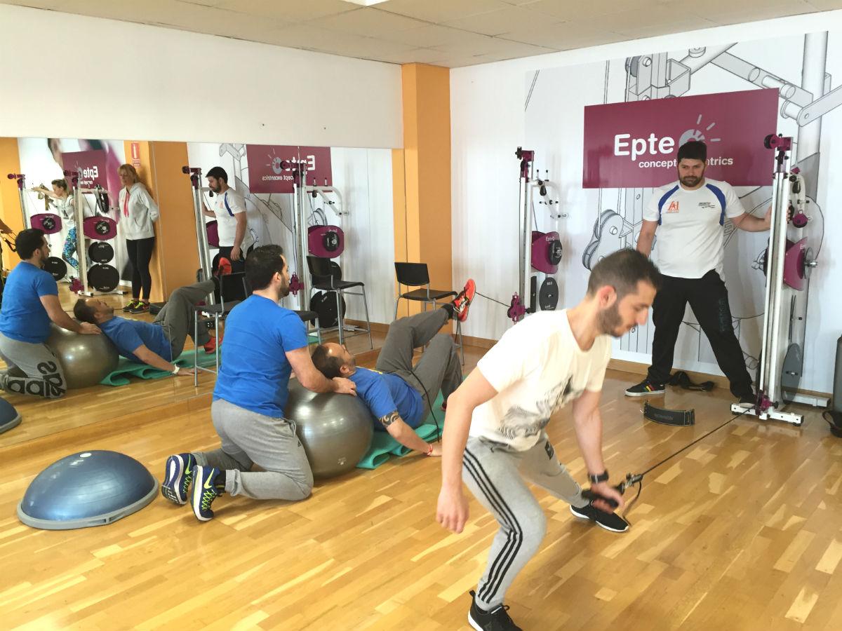 EPTE Inertial Functional Training reproducción gesto deportivo