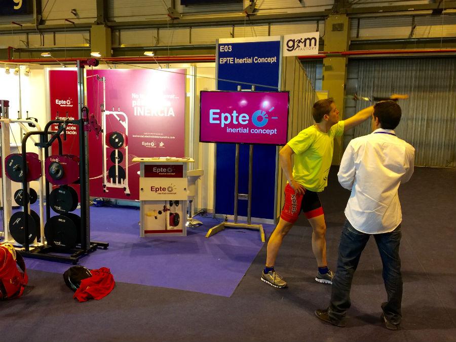 Un asistente a Gym Factory prueba EPTE Inertial Concept