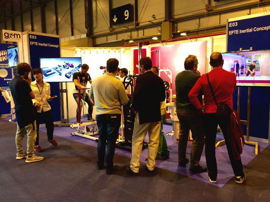 Stand en Gym Factory de EPTE Inertial Concept