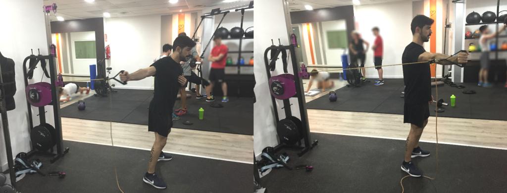 ejercicio inercial de core con máquina isoinercial