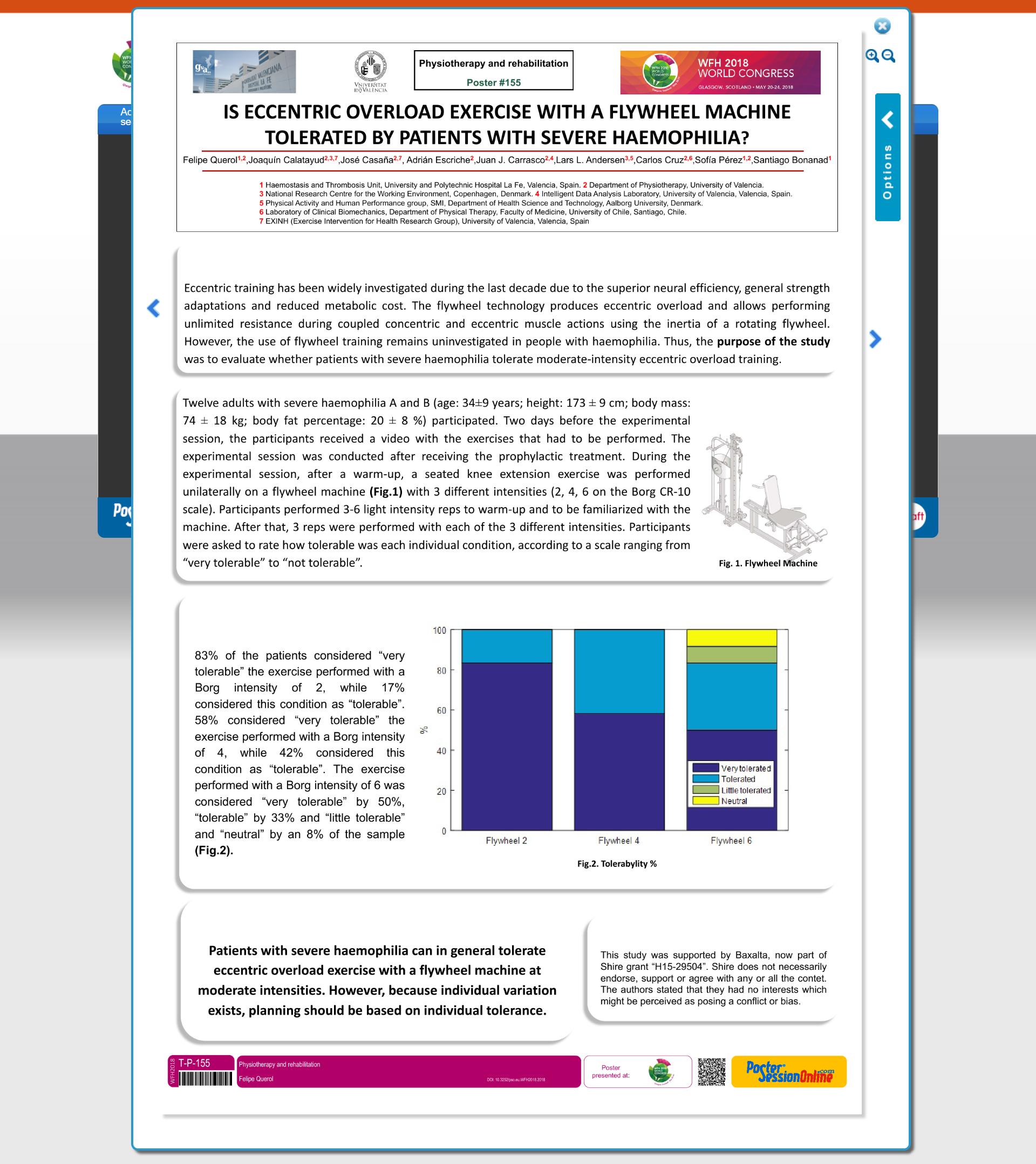 Máquina isoinercial Congreso Federación Mundial de Hemofilia 2018